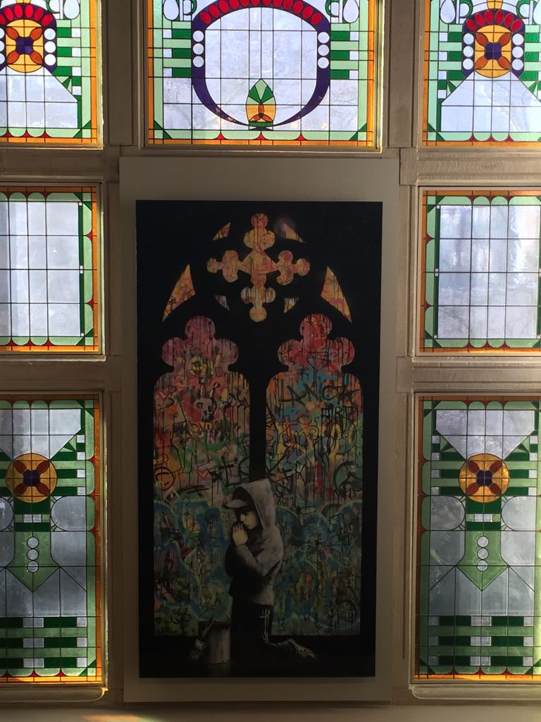 Stained glass window at the Moco - There is Always More To Say